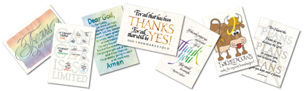 Calligraphy Art Plaques, Inspirational Gifts, Note Cards