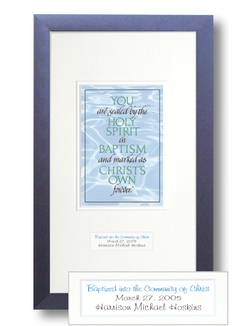 Baptism, From the Book of Common Prayer, Calligraphy Art Plaques, Inspirational Gifts