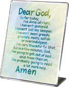 Dear God, Calligraphy Art Plaques, Inspirational Gifts