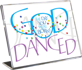 God Danced (Boy), Calligraphy Art Plaques, Inspirational Gifts