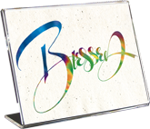 Blessed, Calligraphy Art Plaques, Inspirational Gifts