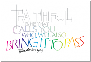 Faithful, 1 Thessalonians 5:2, Calligraphy Art Plaques, Inspirational Gifts