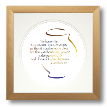 Clay Jars, 2 Corinthians 4:7, Calligraphy Art Plaques, Inspirational Gifts