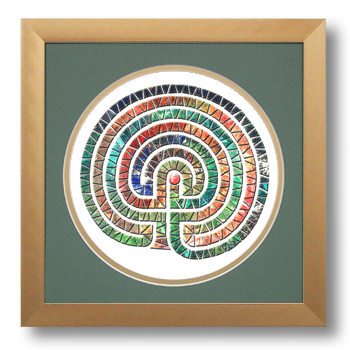 Labyrinth, Calligraphy Art Plaques, Inspirational Gifts
