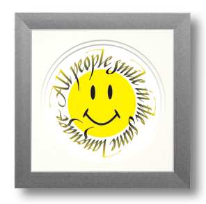 Smile, Calligraphy Art Plaques, Inspirational Gifts