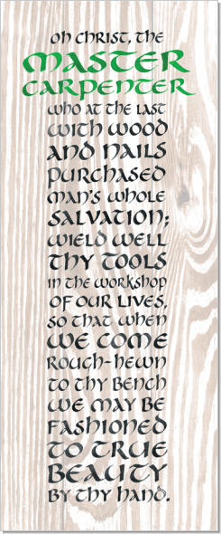 Carpenter, Calligraphy Art Plaques, Inspirational Gifts