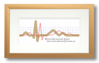 Heartbeat, Calligraphy Art Plaques, Inspirational Gifts