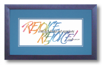 Rejoice, Philippians 4:4, Calligraphy Art Plaques, Inspirational Gifts