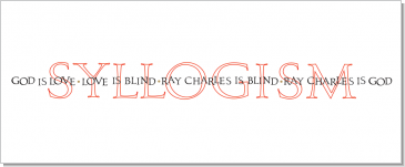 Syllogism, Ray Charles, Calligraphy Art Plaques, Inspirational Gifts