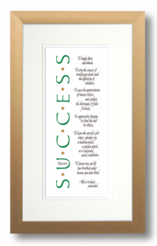 Success, Ralph Waldo Emerson, Calligraphy Art Plaques, Inspirational Gifts