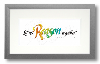 Reason, Isaiah 1:18, Calligraphy Art Plaques, Inspirational Gifts