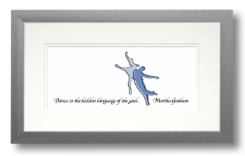 Dance (blue), Martha Graham, Calligraphy Art Plaques, Inspirational Gifts