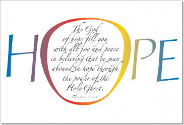 Hope, Romans 15:13, Calligraphy Art Plaques, Inspirational Gifts