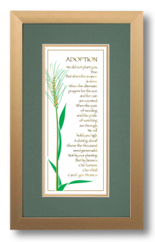 Adoption, Carol Lynn Pearson, Calligraphy Art Plaques, Inspirational Gifts