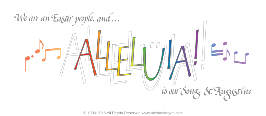 Alleluia St Augustine Calligraphy Art Plaques