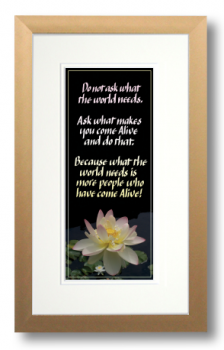 Come Alive, Howard Thurman, Calligraphy Art Plaques