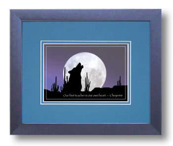 Lone Wolf, Cheyenne, Calligraphy Art Plaques, Inspirational Gifts