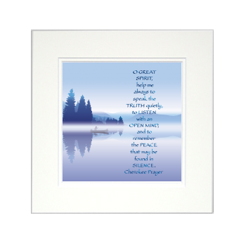 Cherokee Prayer, Calligraphy Art Plaques, Inspirational Gifts