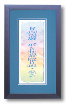 Be, Saint Francis de Sales, Calligraphy Art Plaques, Inspirational Gifts