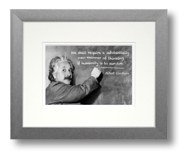 Einstein, Calligraphy Art Plaques, Inspirational Gifts