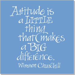 Attitude, Winston Churchill, Calligraphy Art Plaques, Inspirational Gifts