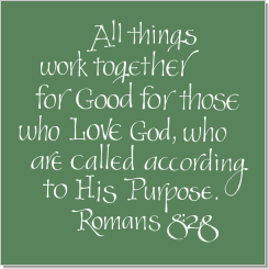 Romans 8:28, Calligraphy Art Plaques, Inspirational Gifts