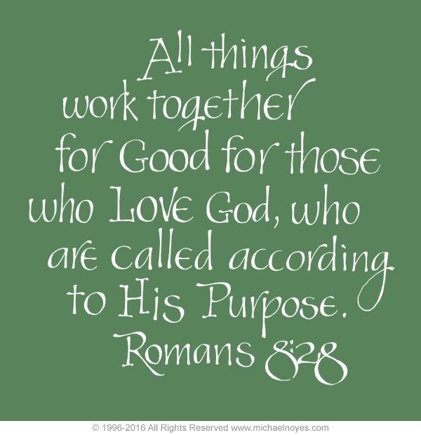 Romans 8 28 Calligraphy Art Plaques Inspirational Gifts
