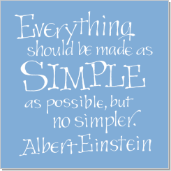 Simple as Possible, Albert Einstein, Calligraphy Art Plaques, Inspirational Gifts