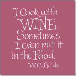 Wine #1, W. C. Fields, Calligraphy Art Plaques, Inspirational Gifts