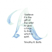 A, Timothy R. Botts, Calligraphy Art Plaques, Inspirational Gifts