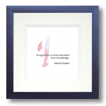 I, Albert Einstein, Calligraphy Art Plaques, Inspirational Gifts