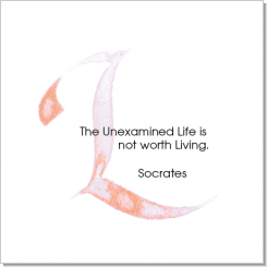 L, Socrates, Calligraphy Art Plaques, Inspirational Gifts