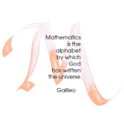 M, Galileo, Calligraphy Art Plaques, Inspirational Gifts