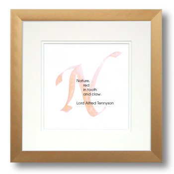 N, Lord Alfred Tennyson, Calligraphy Art Plaques, Inspirational Gifts