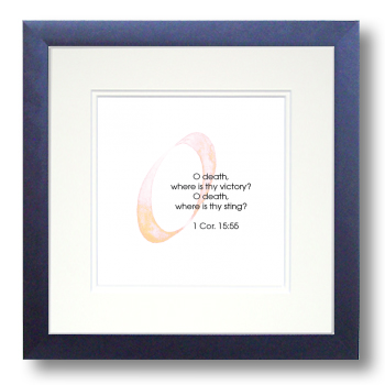 O, 1 Corinthians 15:15, Calligraphy Art Plaques, Inspirational Gifts