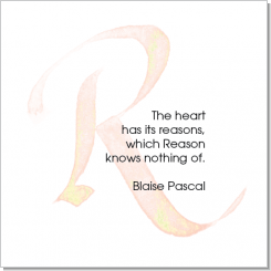 R, Blaise Pascal, Calligraphy Art Plaques, Inspirational Gifts