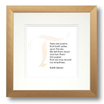 T, Kahlil Gibran, Calligraphy Art Plaques, Inspirational Gifts