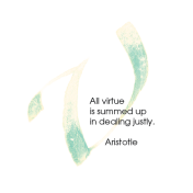 V, Aristotle, Calligraphy Art Plaques, Inspirational Gifts