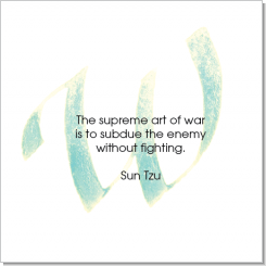 W, Sun Tzu, Calligraphy Art Plaques, Inspirational Gifts