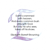 E, Elizabeth Barrett Browning, Calligraphy Art Plaques, Inspirational Gifts