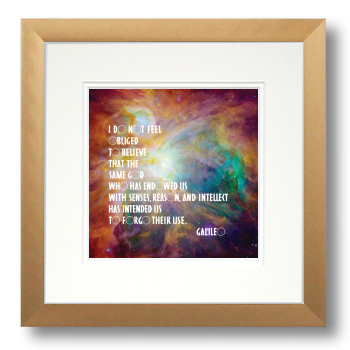 Galileo, Orion Nebula, Calligraphy Art Plaques, Inspirational Gifts