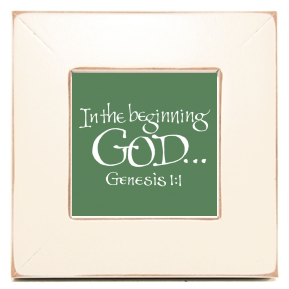 God, Genesis 1:1, Calligraphy Art Plaques, Inspirational Gifts