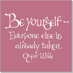 Be Yourself, Oscar Wilde, Calligraphy Art Plaques, Inspirational Gifts