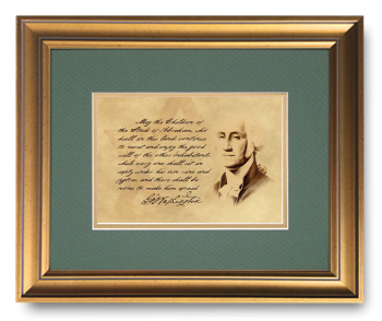George Washington, Letter to the Hebrew Congregation of Newport, RI, Calligraphy Art Plaques, Inspirational Gifts
