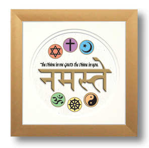 Namaste, Calligraphy Art Plaques, Inspirational Gifts