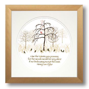 Talents, Henry van Dyke, Calligraphy Art Plaques, Inspirational Gifts
