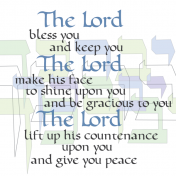 Lord Bless, Numbers 6:24-26, Y'varech'cha, Aaronic Blessing , Calligraphy Art Plaques, Inspirational Gifts
