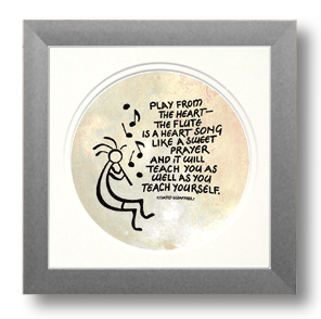 Kokopelli, Flute Music, Calligraphy Art Plaques, Inspirational Gifts