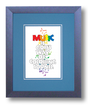 Music, Calligraphy Art Plaques, Inspirational Gifts