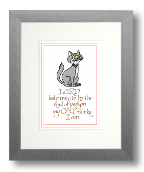 Cat 1, Calligraphy Art Plaques, Inspirational Gifts